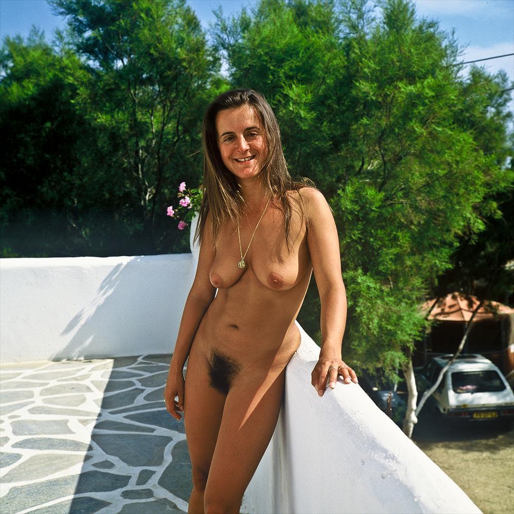 Beach nudist girl mykonos