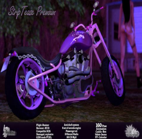 striptease motorbike