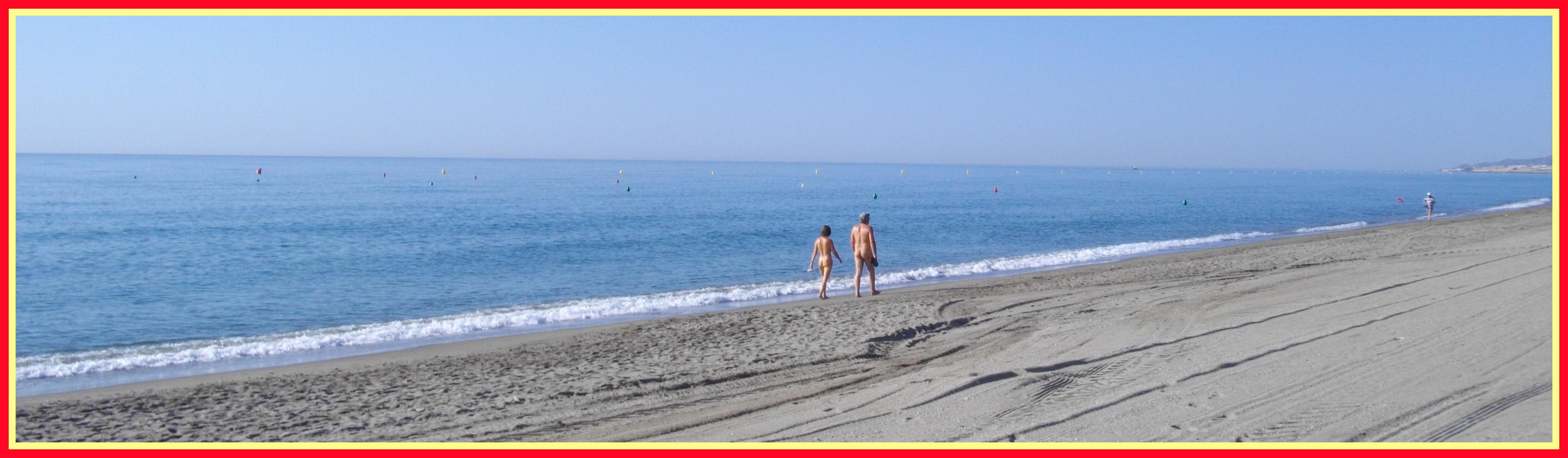Family nudists baltic beach