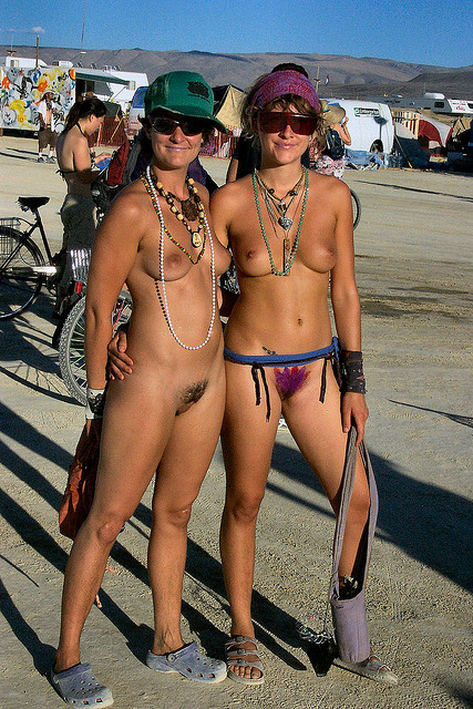 Burning man naked