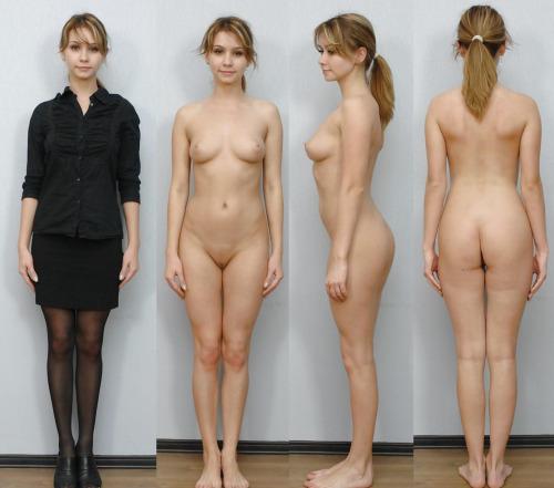 Голые девушки вид спереди