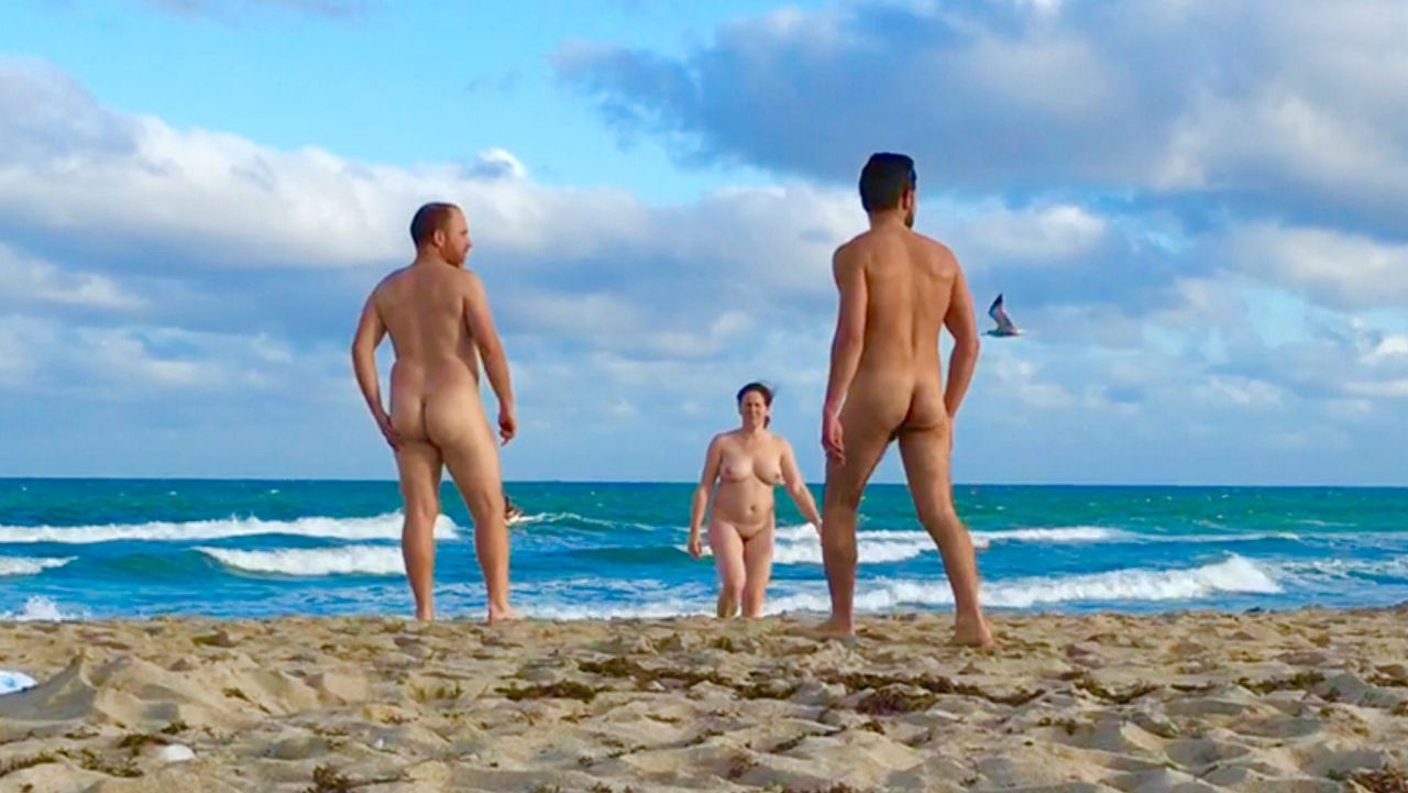 walking nude beach erection