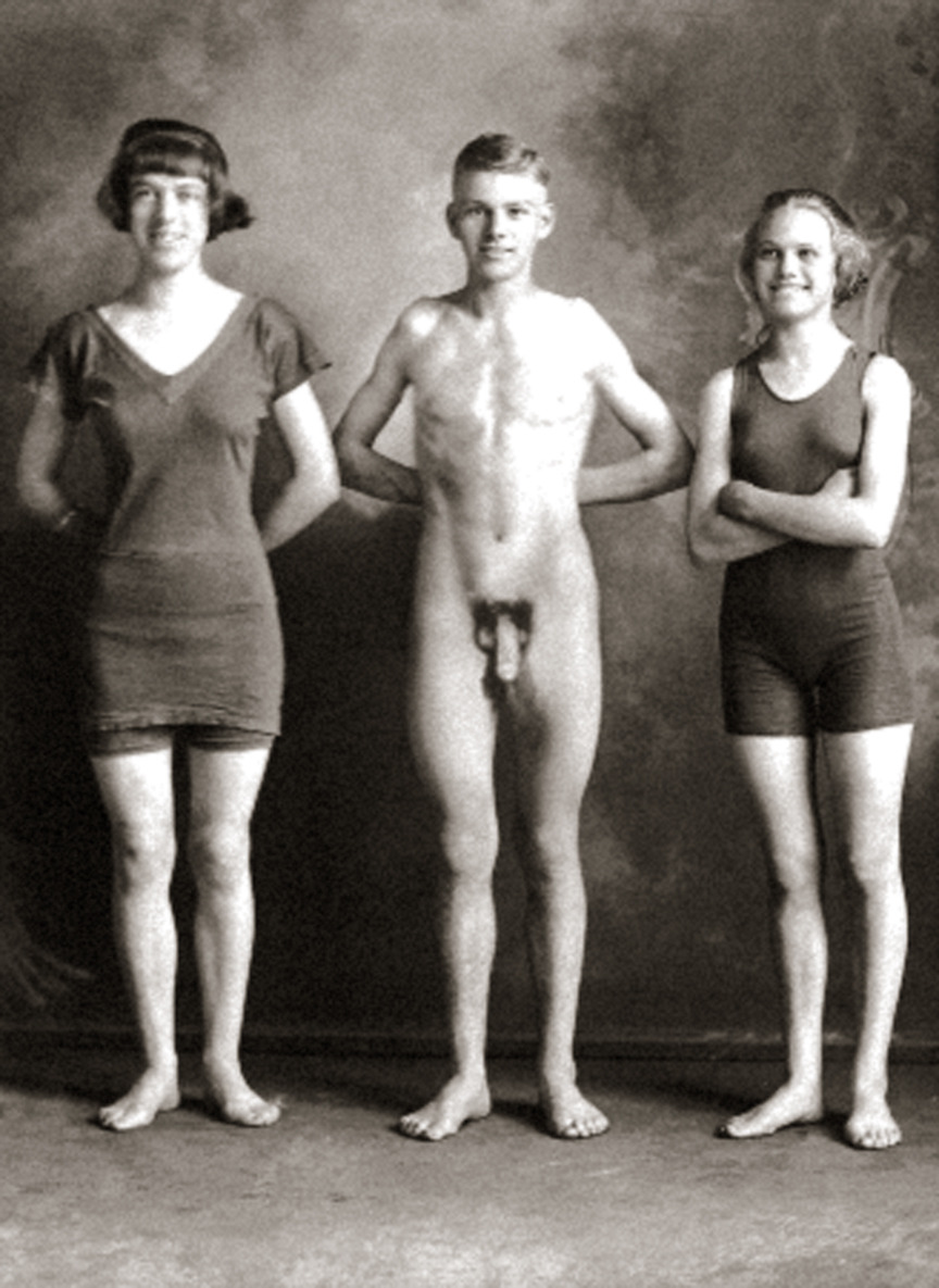 vintage nudist boy and girls
