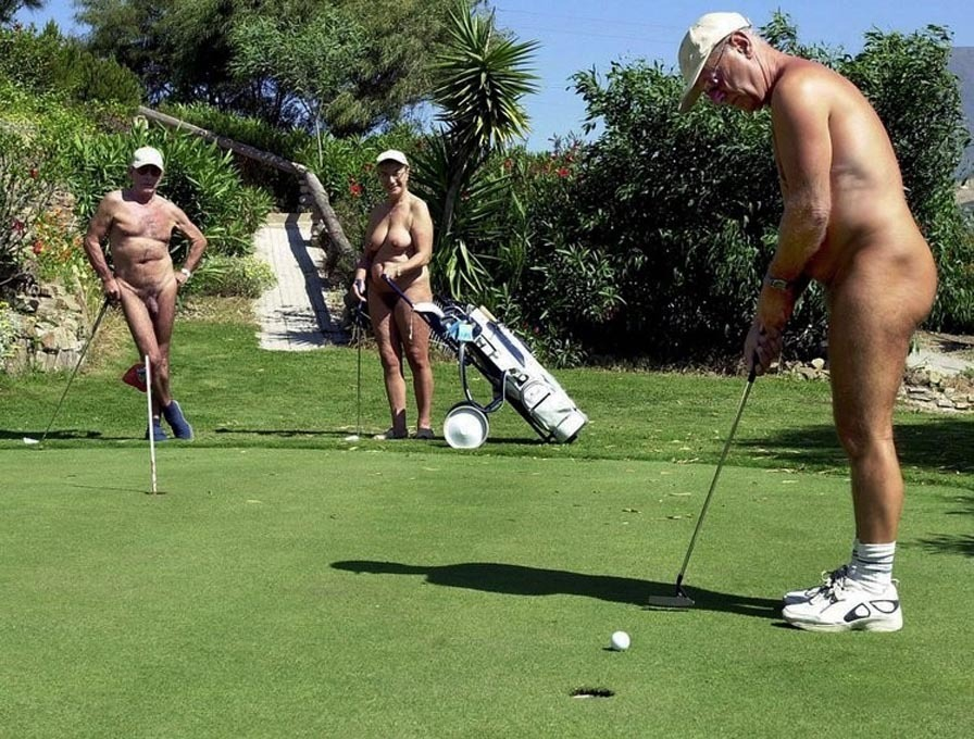 Beautiful female golf caddies